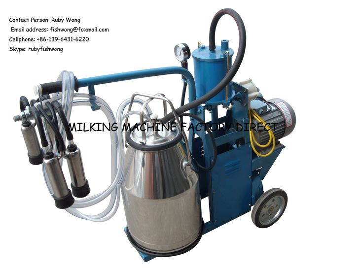 Portable Piston Milking Machine with Single Bucket