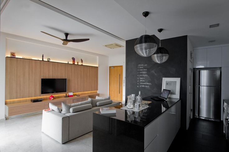 open kitchen concept as extended living space to the lounge