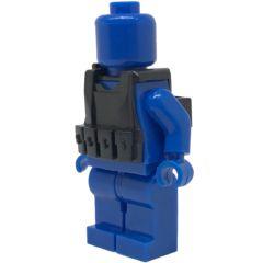 Brick Forces Minifigure Black Tactical Vest 2