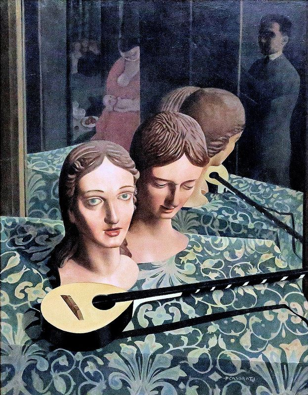 There is so much going on in this piece! Felice Casorati. 1883-1963 Manichini 1924 #TuscanyAgriturismoGiratola
