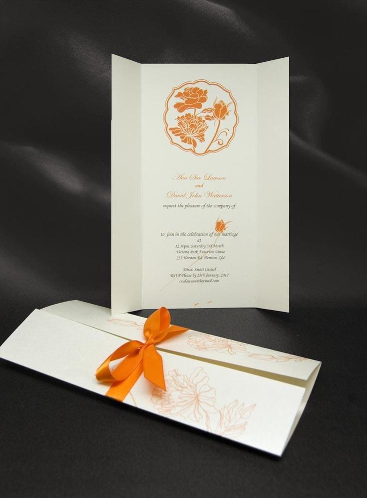 Catherine orange invitation