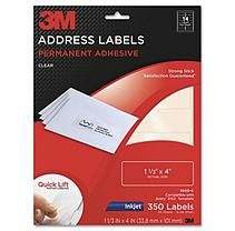 3M Permanent Adhesive Clear Mailing Labels