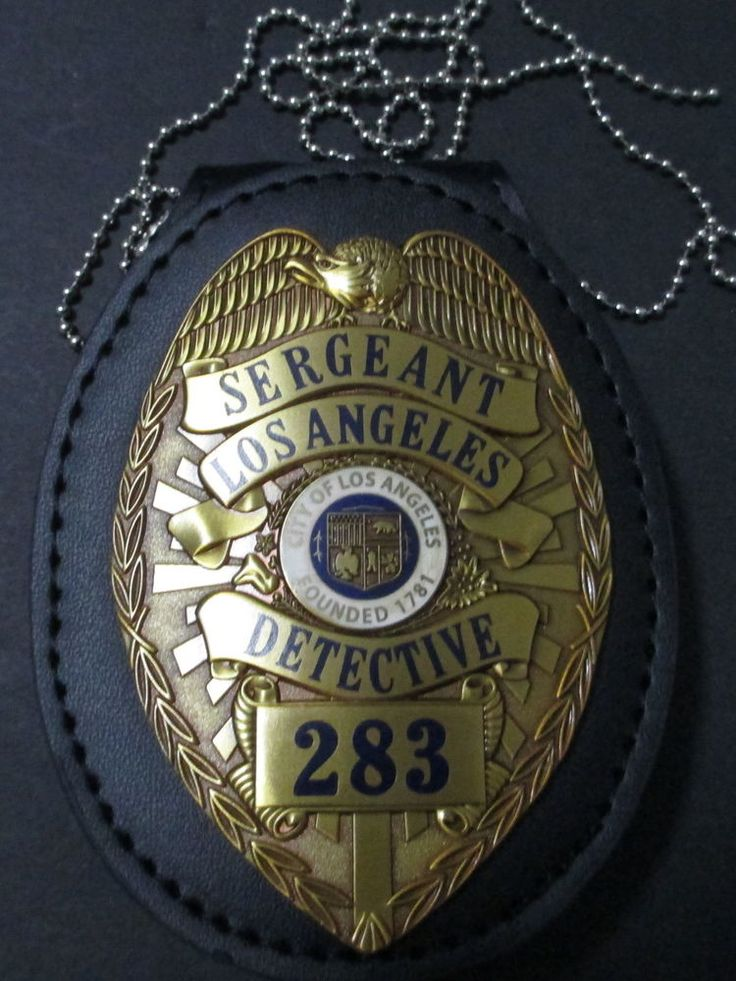 """Obsolete Los Angeles Police Gangster Squad """"Juice"""" Prop Badge Made in U.S.A."""
