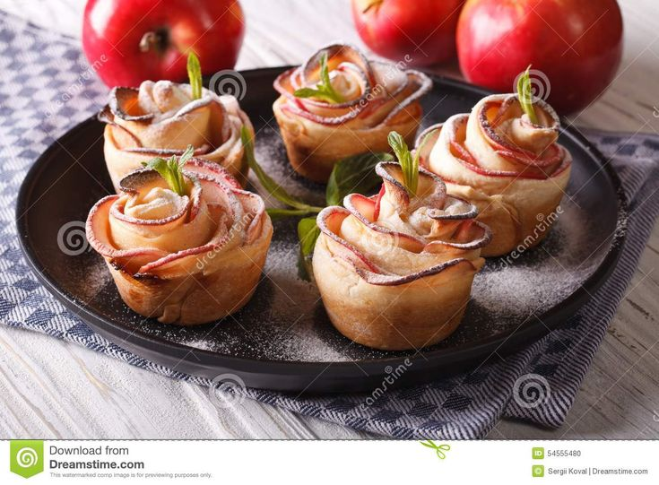 Beautiful Pastries Apples In The Form Of Roses - Download From Over 55 Million High Quality Stock Photos, Images, Vectors. Sign up for FREE today. Image: 54555480