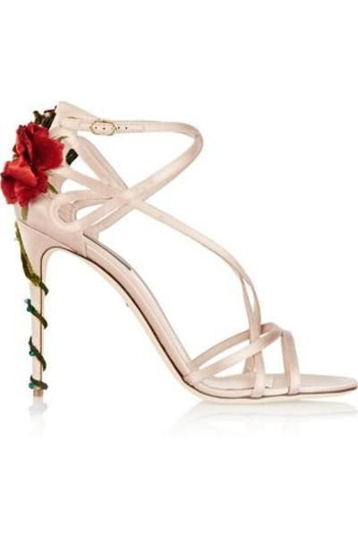 #covetmeEmbellished satin sandals #sandals #covetme #dolce&gabbana