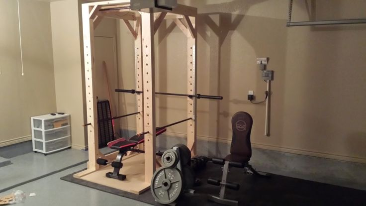 Easy to Build DIY Power Rack (Squat Rack) for home gym