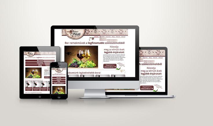 Füsti Pince responsive webdesign terv