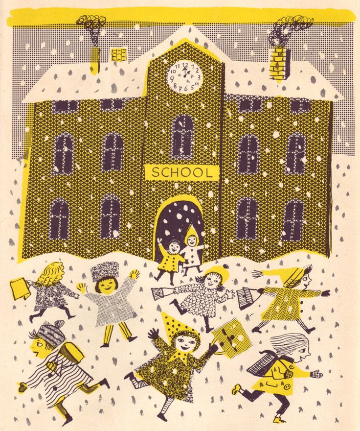 Old Man Winter Comes to Town, illustrated by Beatrice Braun-Fock (from 50 watts, via Iconoclassic)
