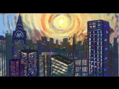 4 artists painting on one canvas - PolyScribe Metamorphosis Art Animation -