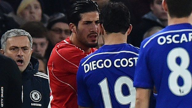 Costa and Can clash at Stamford Bridge