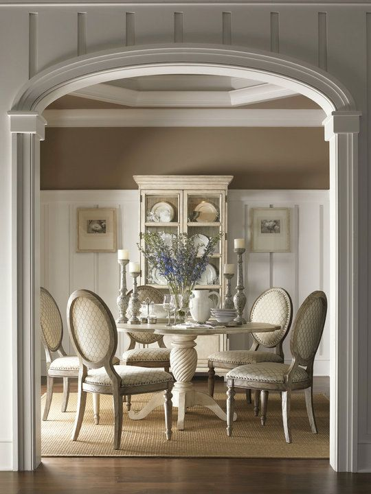 Cream and Taupe dining room