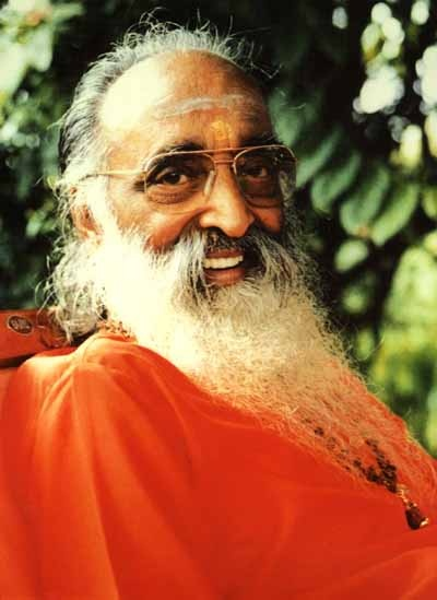 Swami Chinmayananda (1916-1993) the founding Father of Chinmaya Mission, World-wide. He was one of the world's foremost Vedantic scholar and one of India's most respected spiritual leaders. A gifted speaker, Swami Chinmayananda built an intense rapport with his audiences and communicated the teachings with vibrancy and wit. He taught Hindu philosophy in its most ancient and purest form, Vedanta, as it has been passed on from teacher to student since time immemorial.
