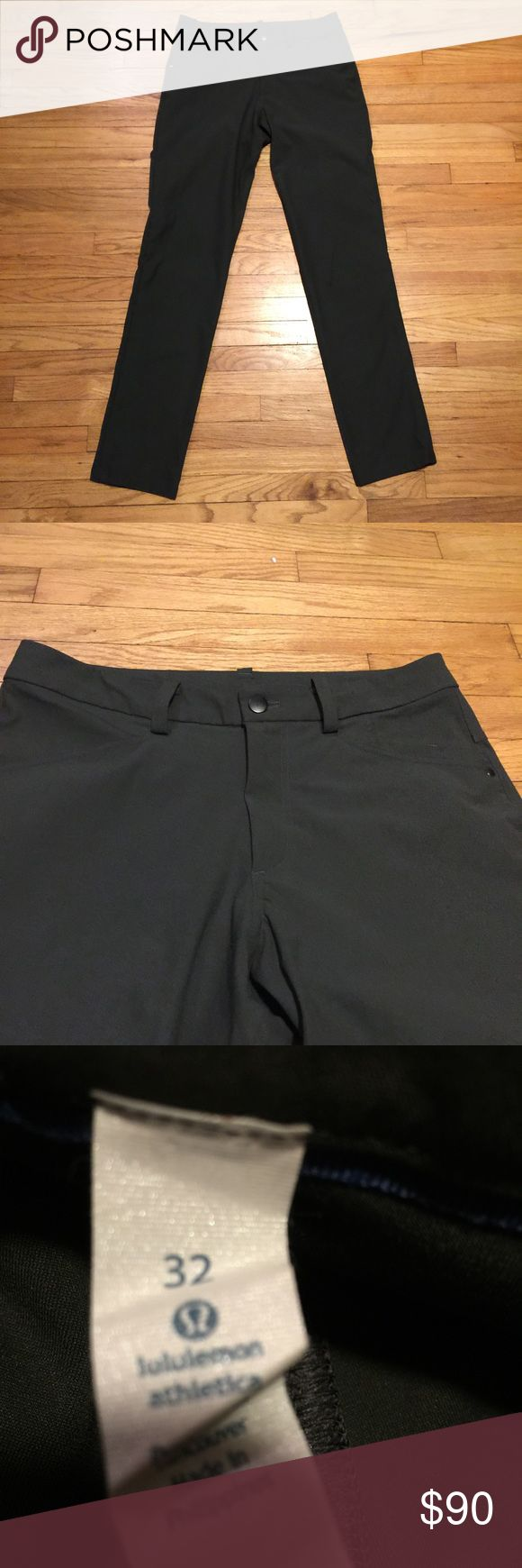 Lululemon gray ABC pants - 32x33 Lululemon gray ABC pants - 32x33. Waist - 15.5 inches. Rise - 11 inches. Inseam - 33 inches. Excellent condition lululemon athletica Pants