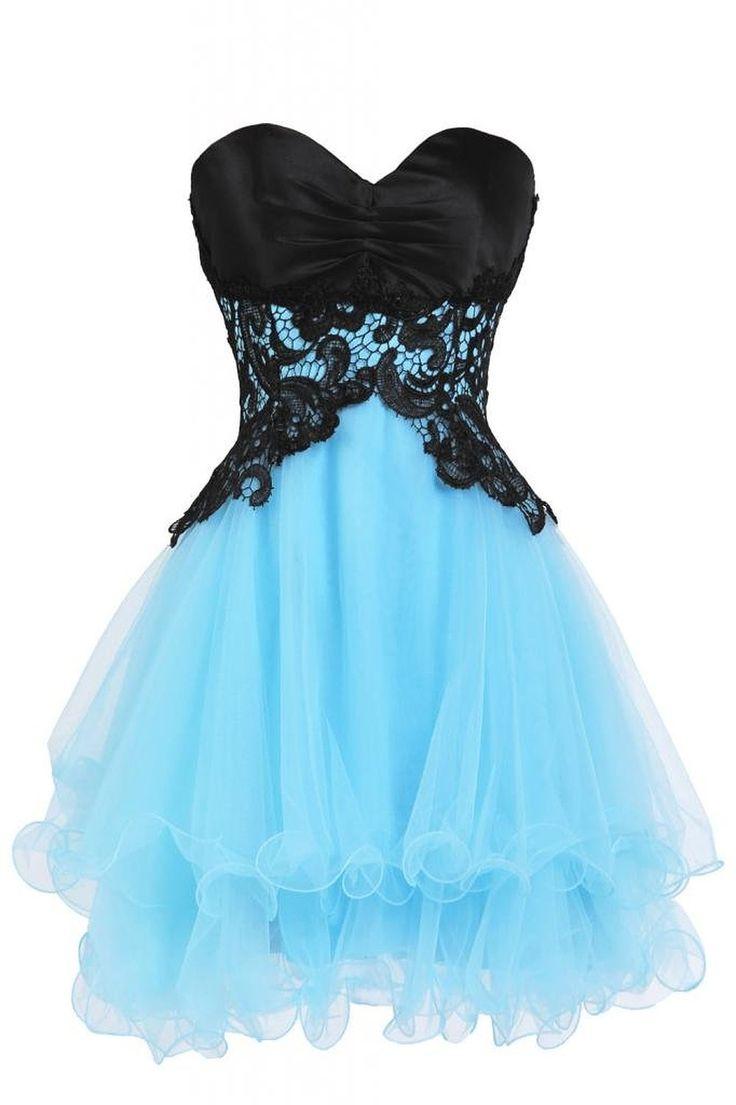 Mini A-Line Organza Homecoming Dress,Sweetheart Homecoming Dresses,Appliques…