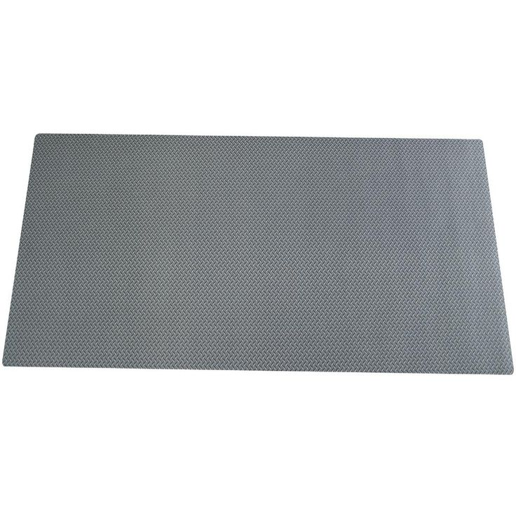 Armor All 85 in. Diamond Plate Tool Box Liner, Gray