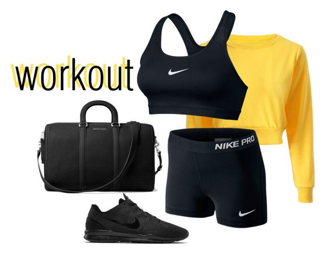 """workout"" by bbriii on Polyvore featuring NIKE and MICHAEL Michael Kors"