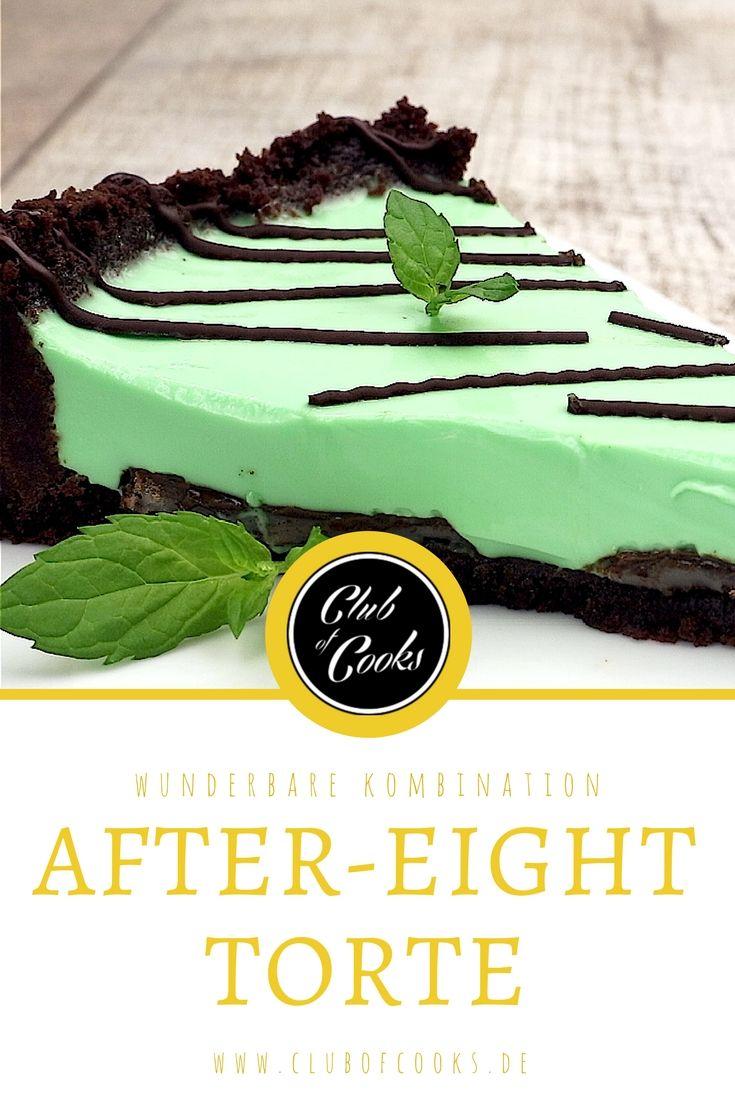 Pfefferminz und Schokolade - diese unschlagbare, beliebte Kombination kommt in dieser After Eight Torte, hergestellt mit der beliebten Schokolade, bestens zur Geltung.