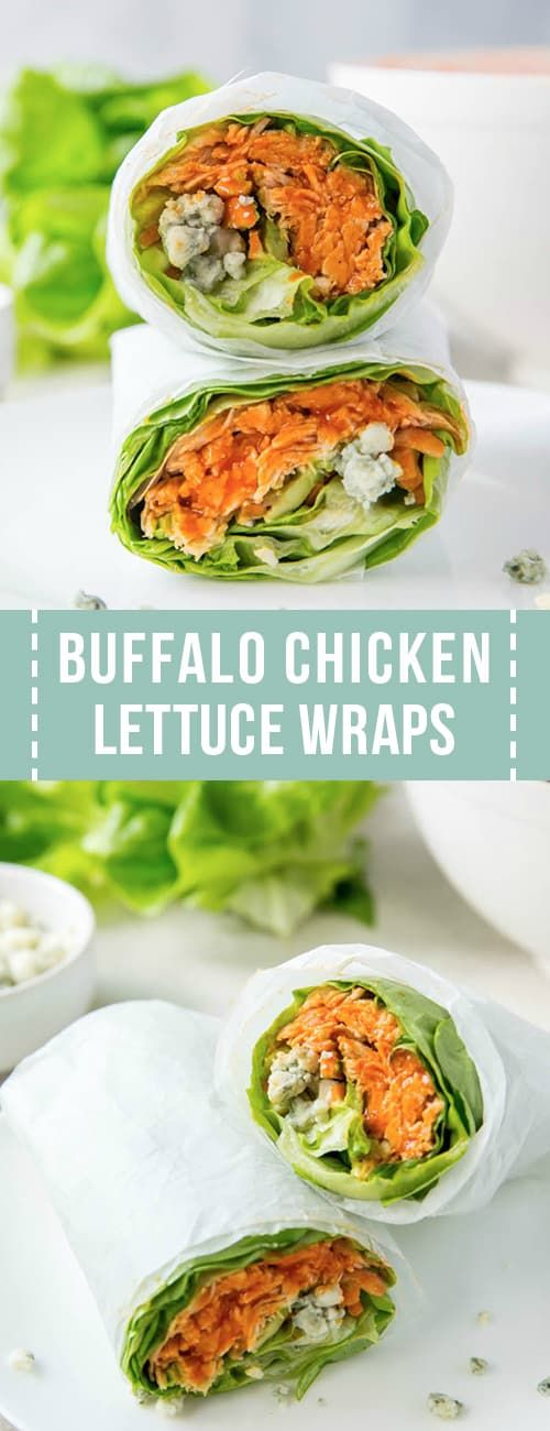 Buffalo Chicken Lettuce Wraps sind ein einfaches Rezept für ein kohlenhydratarmes …   – Healthy Easy Meals