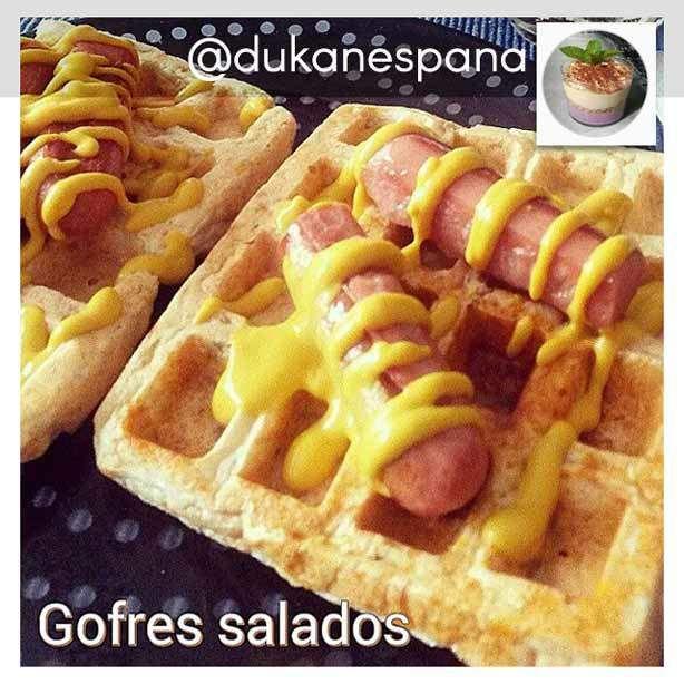 Dieta Dukan en Instagram: receta de gofres salados aptos Dukan