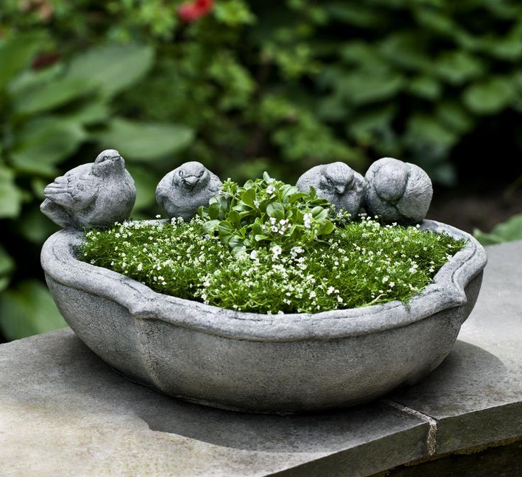 The Alouette Planter Is A Beautiful Tabletop, Garden Or Terrace Planter  Featuring Four Birds And