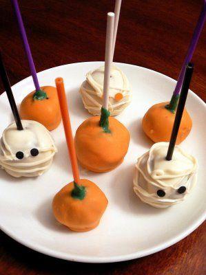 Dulce De Leche Cupcake Balls and Halloween Brownie Pops