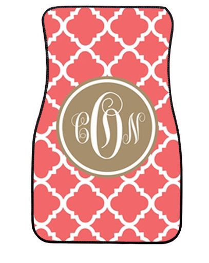 Personalized Car Mats Monogrammed Car Mats by LoveyDoveyCreations, $75.00 So Cool!!!!