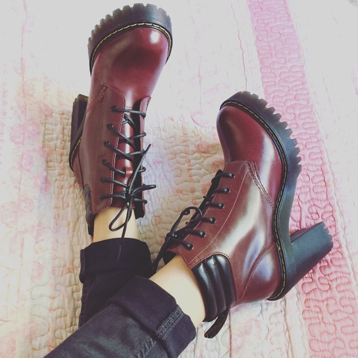 Doc Martens - Dr Martens -Persephone Buttero - Boots - Ankle boots - Martens - Red - Cherry Red