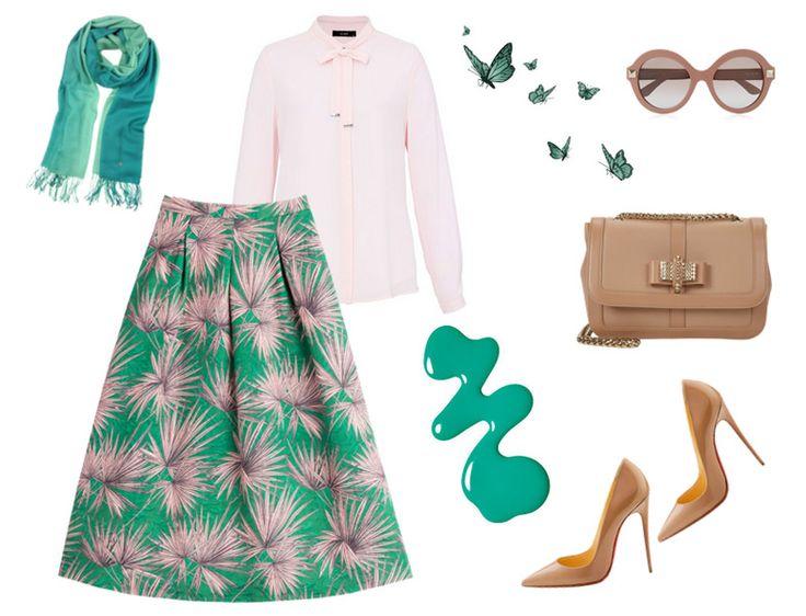 Tesettür kombin - Günümüzde 70'ler modası - Çiçekli etek kombini http://www.yesiltopuklar.com/gecmisten-gelen-trend-70ler.html