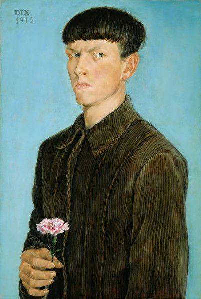 Otto Dix (autoportrait à l'oeillet)