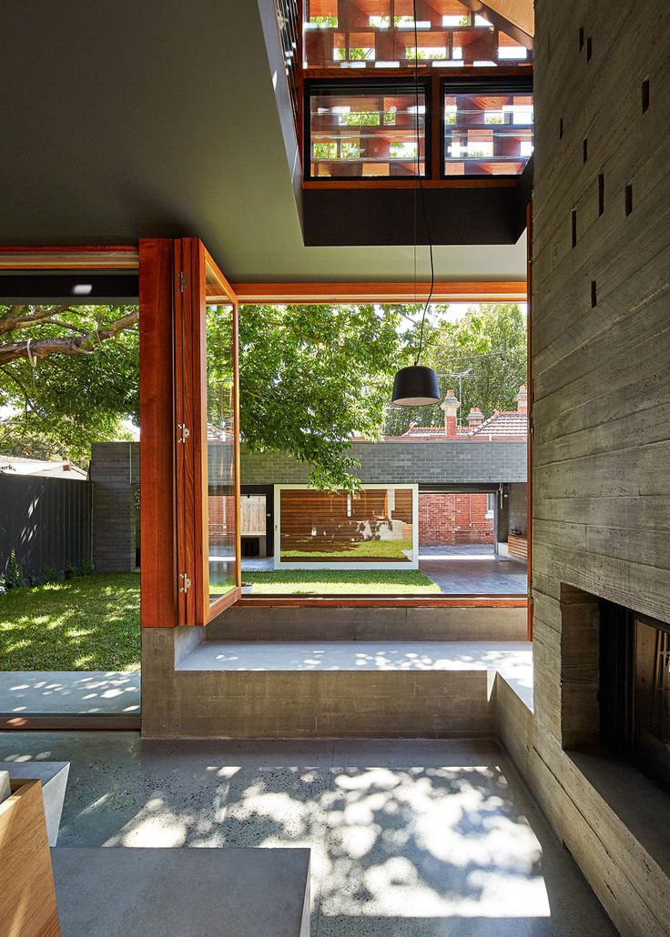 MAKE architecture | Local House; Melbourne, concrete and timber, an 'outdoor room inside'