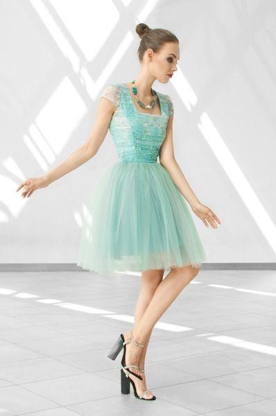Sukienka tiulowa w malachitowych barwach  w mon-nom boutique na DaWanda.com