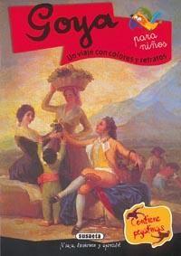 Un viaje con colores y retratos. Un libro del gran Francisco de Goya, con muchas actividades y pasatiempos, y numerosos cuadros seleccionados entre los más conocidos del artista. Incluye una biografía para niños y muchas curiosidades, descripciones y explicaciones del arte de este célebre pintor que nació en 1746 y murió en Burdeos (Francia) en 1828. Además, contiene pegatinas para jugar, observar y divertirse.
