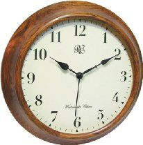 River City Clocks 15 Inch Wood Wall Clock with Four Different Chiming Options - Model # 7100-15