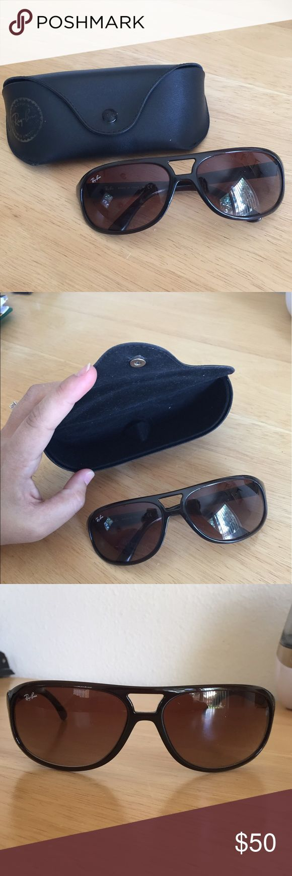 AUTHENTIC Ray Ban Tortoise Sunglasses Ray Ban Ladies Tortoise shell sunglasses. Perfect condition. Authentic. Comes with case, also in excellent condition. Ray-Ban Accessories Sunglasses