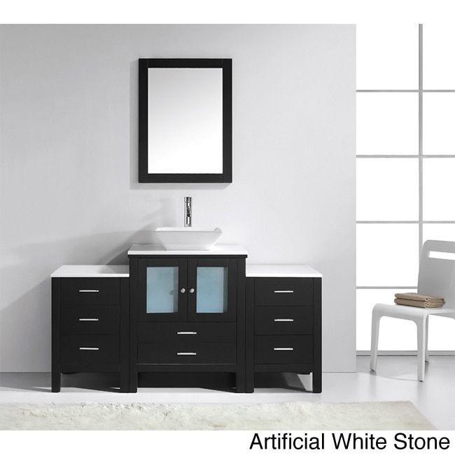 Virtu USA Brentford 63-inch Single Sink Bathroom Vanity Set