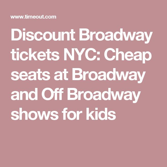 how to buy cheap broadway tickets in nyc