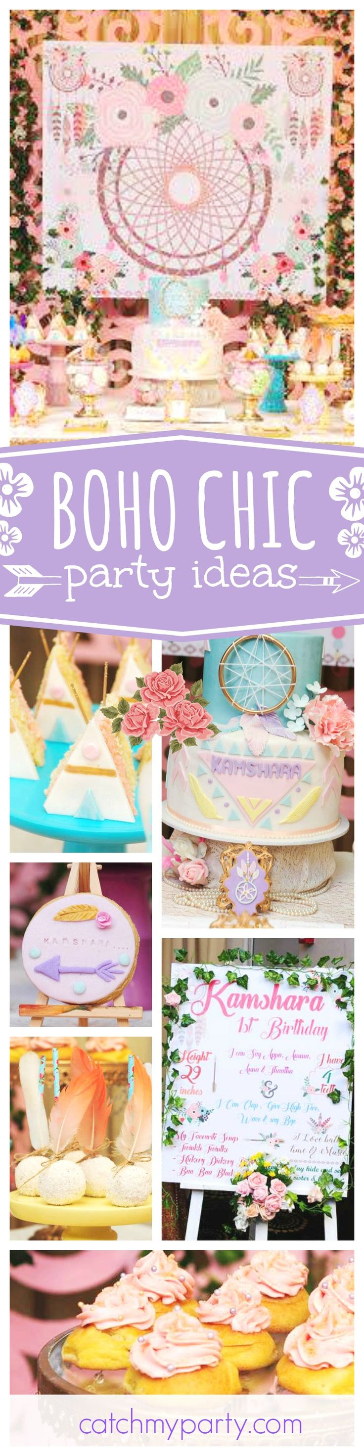 Check out this gorgeous Boho chic 1st birthday party! The cookies are amazing! See more party ideas and share yours at CatchMyParty.com