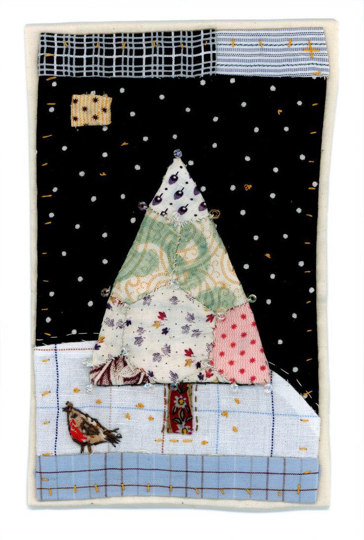 (inspiration. love the black and white polka dot sky! brilliant!) Sharon Blackman