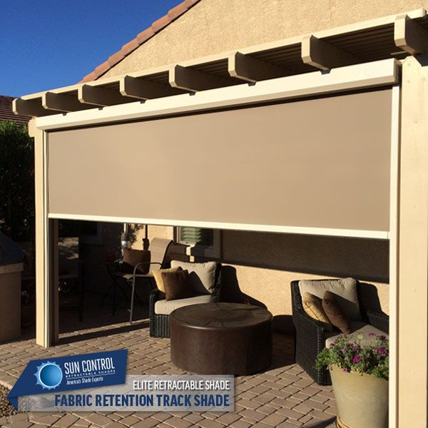 fabric patio shades. Delighful Shades Motorized Fabric Retention Track System Exterior Retractable Patio Shades    Pinterest  To