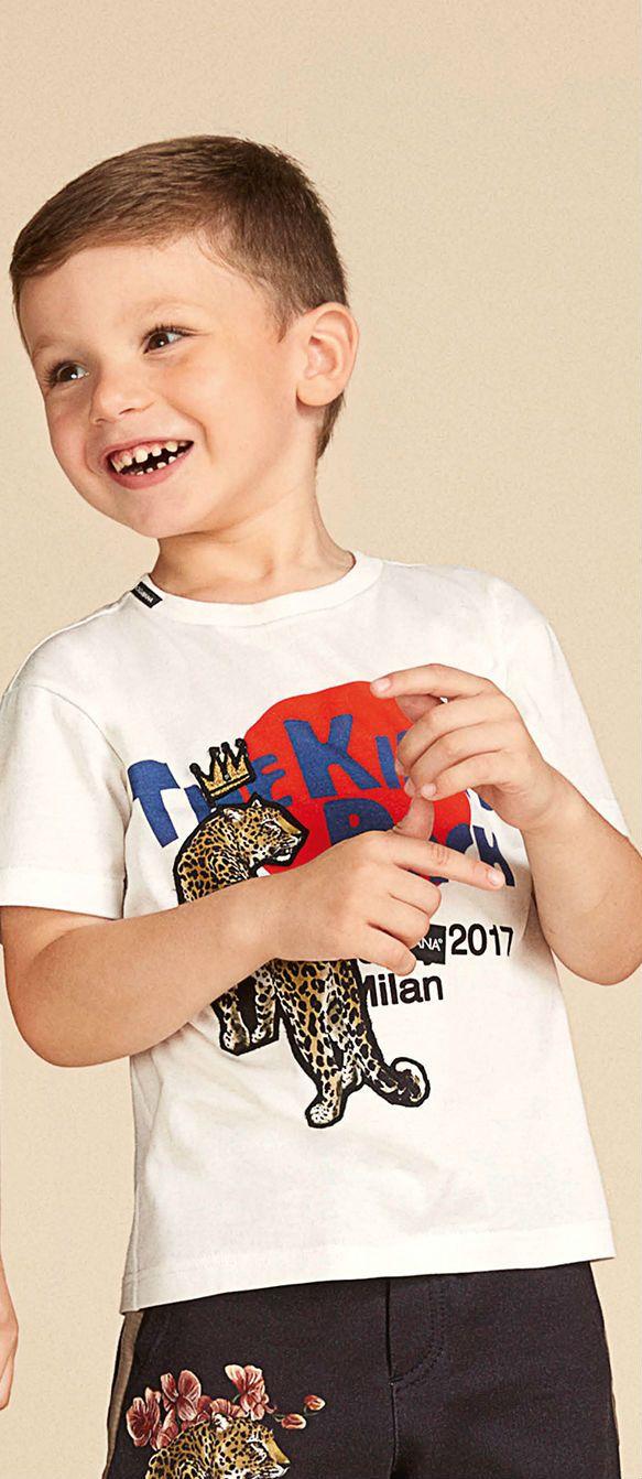 1bf5fc053365 Cute! Dolce Gabbana Junior Boys Tiger Tshirt and Shorts for Summer ...