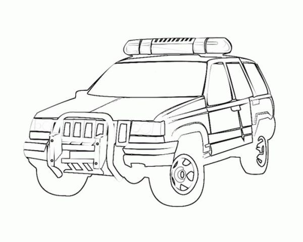 Jeep Coloring Pages Printable Cars Coloring Pages Police Cars