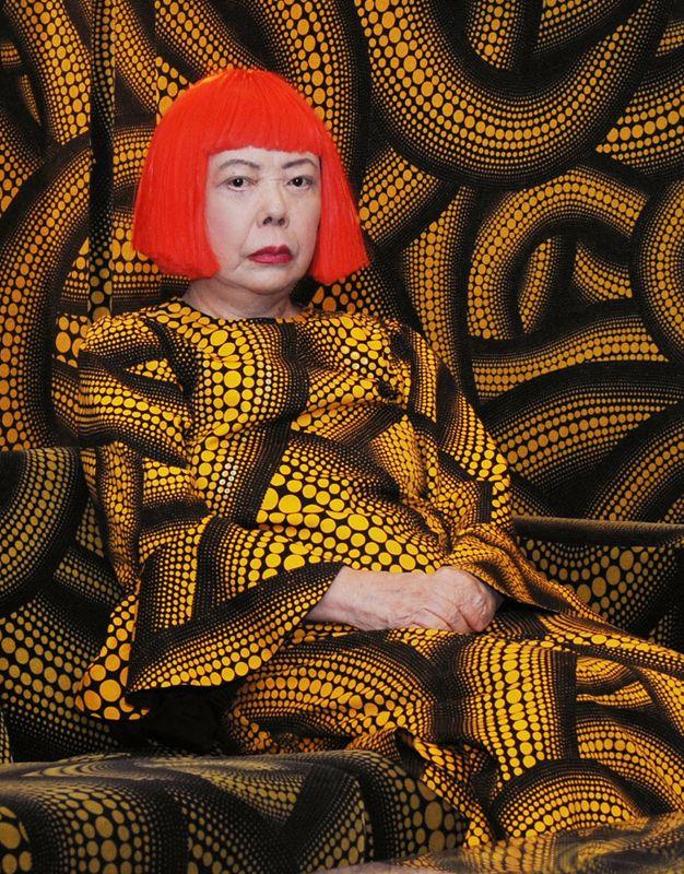 interesting collage by YAYOI KUSAMA