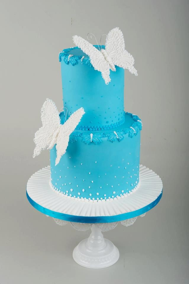 Beautiful 2 tier #Butterfly #Cake We love and had to share! Great #CakeDecorating!