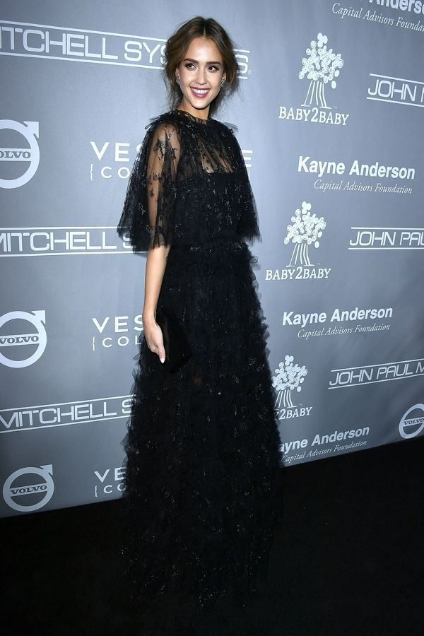 Jessica Alba in Valentino attends the Baby2Baby Gala