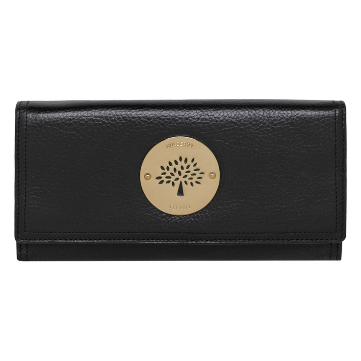 Mulberry - Daria Continental Wallet in Black Soft Spongy Leather