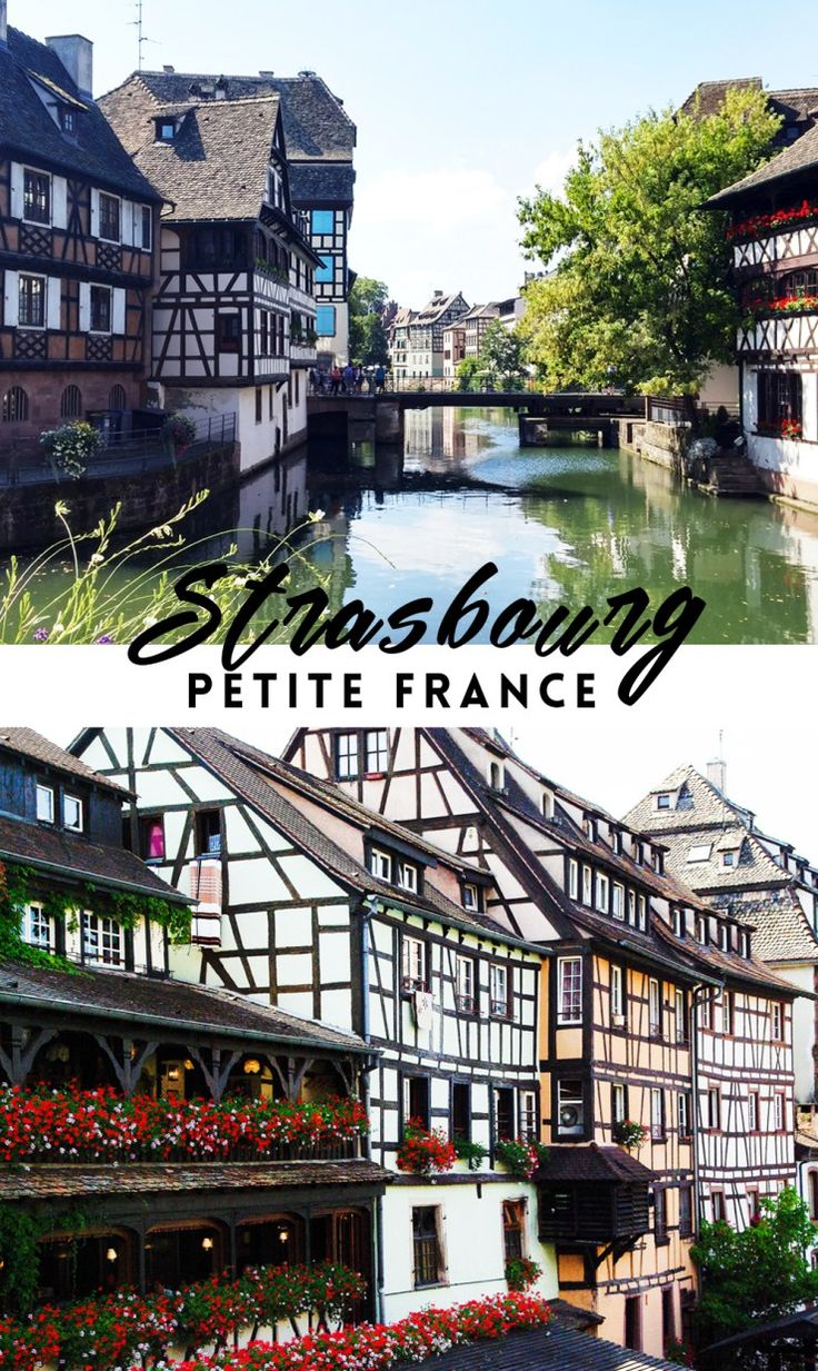 Petite France is Strasbourg's most photogenic district, with its half-timbered buildings and floral-decked bridges. This is just one of the many things to see in Strasbourg. Click through for more ideas!