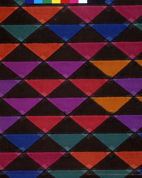Geometric 'jazz age' furnishing fabric by Arthur Sanderson & Sons Ltd., England, 1928 l Victoria and Albert Museum