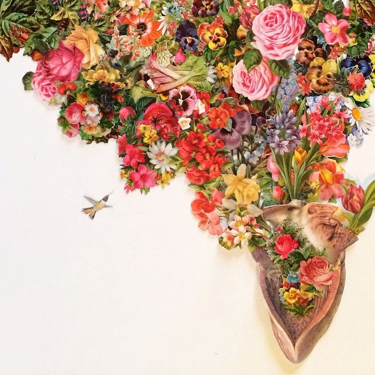 """""""heart of summer"""" anatomical cut paper collage by bedelgeuse. Brooklyn Fox installation coming soon-"""