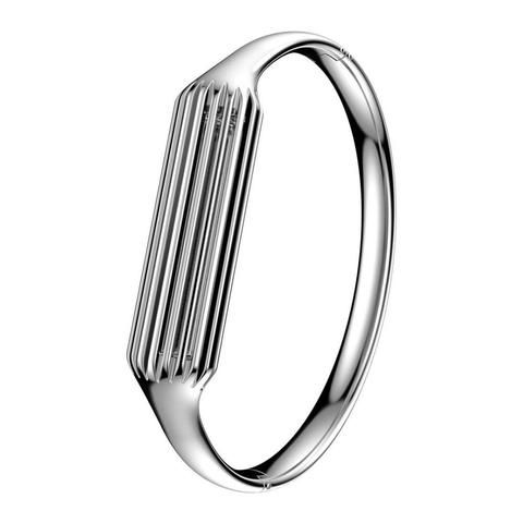 Silver Stainless Steel Bangle For Fitbit Flex 2