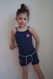 Quapi Kidswear Manon Blue nights #jumpsuit uit de zomercollectie 2014 www.lotenlynn.nl